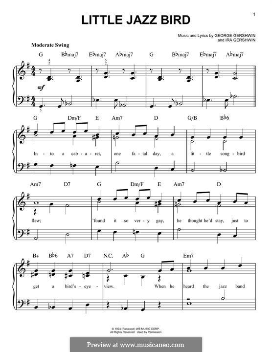 Little Jazz Bird: Для фортепиано by Джордж Гершвин