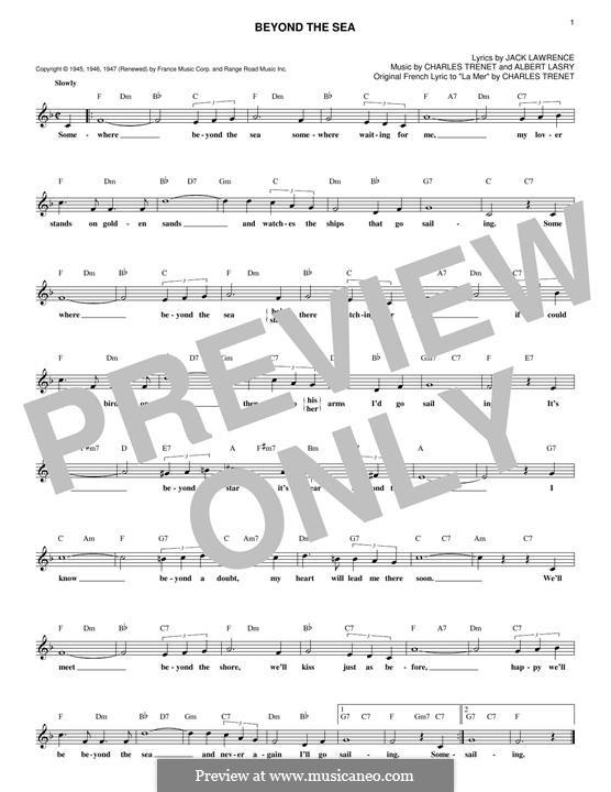 Beyond the Sea: Мелодия by Albert Lasry, Charles Trenet