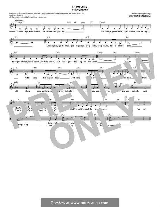 Company: Мелодия by Stephen Sondheim