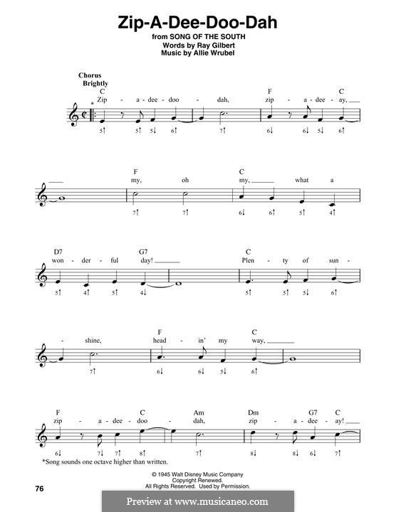 Zip-A-Dee-Doo-Dah: For harmonica by Allie Wrubel
