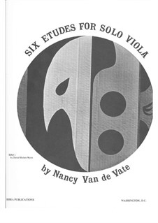 Six Etudes: For solo viola by Nancy Van de Vate