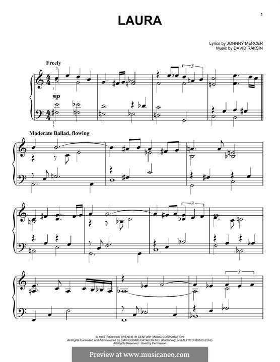 Laura (Frank Sinatra): Для фортепиано by David Raksin