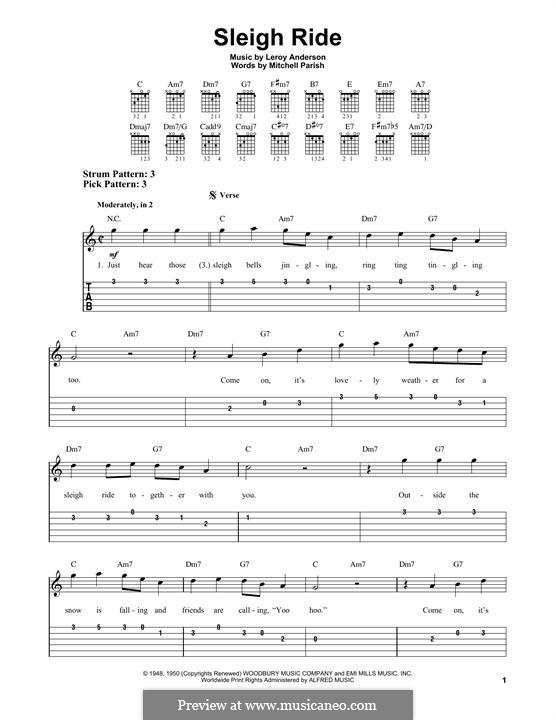 Sleigh Ride: Гитарная табулатура by Лерой Андерсон