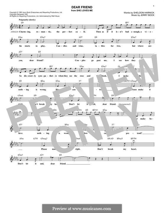 Dear Friend: Мелодия by Jerry Bock