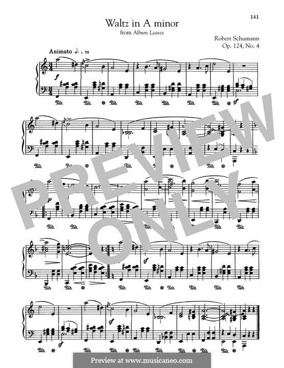 Листки из альбома, Op.124: No.4 Waltz by Роберт Шуман