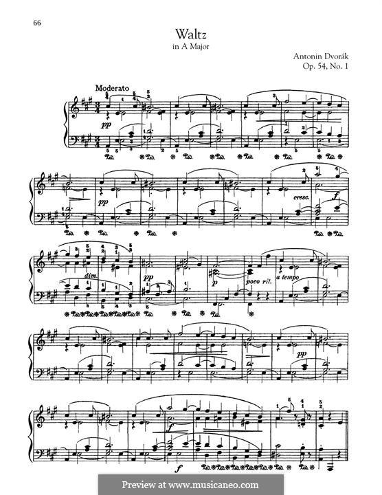 Восемь вальсов, B.101 Op.54: Вальс No.1 by Антонин Дворжак