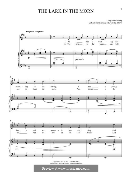 Lark in the Morning: Для голоса и фортепиано by folklore