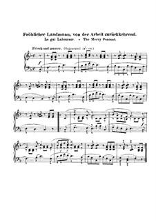 No.10 Веселый крестьянин: Для фортепиано (до мажор) by Роберт Шуман