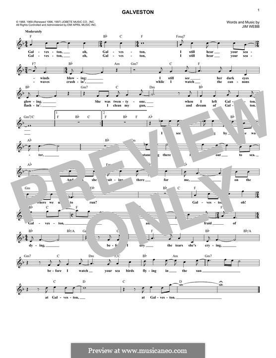 Galveston (Glen Campbell): Мелодия by Jimmy Webb