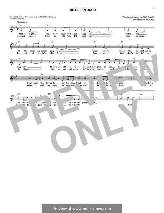 The Green Door (Jim Lowe): Мелодия by Bob Davie, Marvin Moore