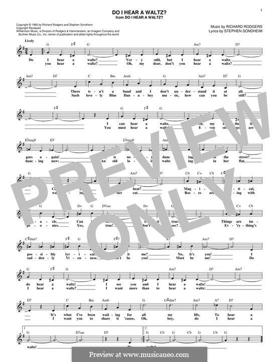 Do I Hear a Waltz?: Мелодия by Richard Rodgers