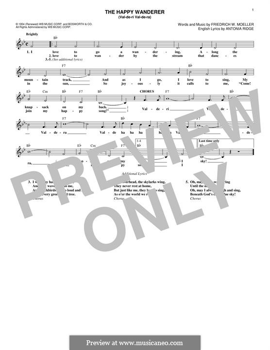The Happy Wanderer (Val-De-Ri, Val-De-Ra): Мелодия by Friedrich W. Moller