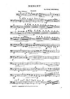 Менуэт для духового квинтета: Менуэт для духового квинтета (Партия фагота) by Блас Мария де Коломер