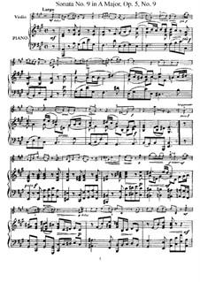 Соната No.9: Аранжировка для скрипки и фортепиано – партитура, сольная партия by Арканджело Корелли