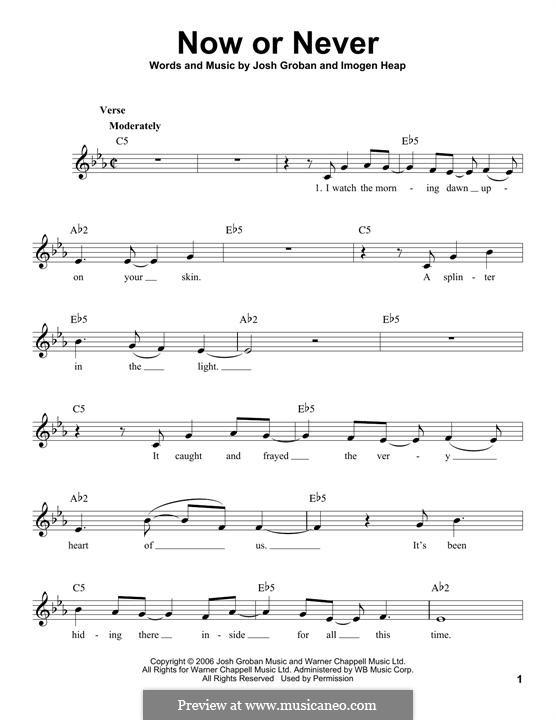 Now or Never: Мелодия by Imogen Heap, Josh Groban