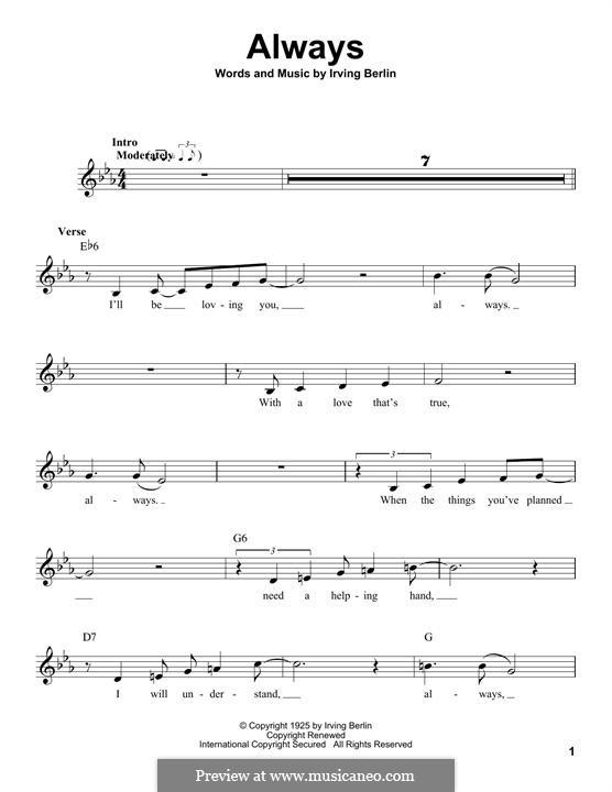 Always: Мелодия by Ирвинг Берлин