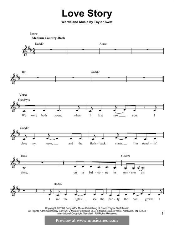 Love Story: Мелодия by Taylor Swift