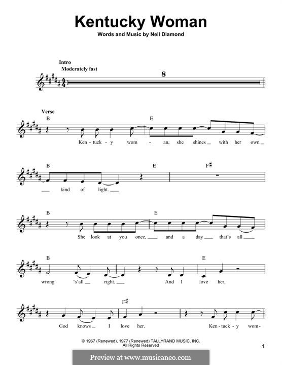Kentucky Woman: Мелодия by Neil Diamond