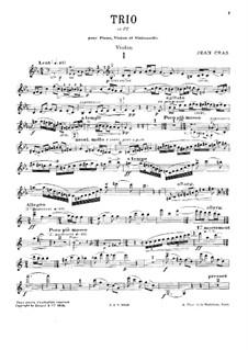 Трио для струнных и фортепиано до мажор: Партия скрипки by Жан Крас