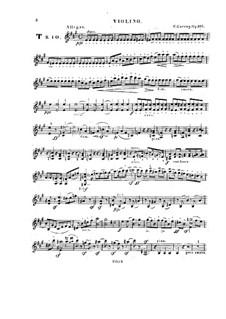 Фортепианное трио No.2 ля мажор, Op.166: Партия скрипки by Карл Черни