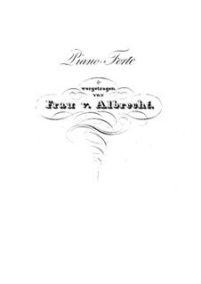 Концертный квартет для четырех фортепиано, Op.230: Партия I фортепиано by Карл Черни