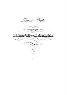 Концертный квартет для четырех фортепиано, Op.230: Партия II фортепиано by Карл Черни