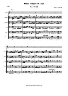 Concerto No.12 in C Major: For oboe and string orchestra by Томазо Альбинони