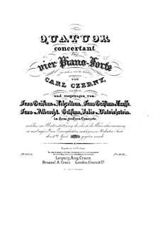 Концертный квартет для четырех фортепиано, Op.230: Партия третьего фортепиано by Карл Черни
