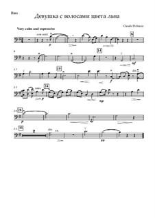 No.8 Девушка с волосами цвета льна: Для струнных и фортепиано – партия контрабаса by Клод Дебюсси