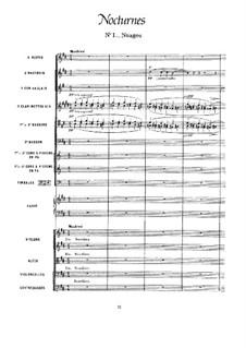 Три ноктюрна, L.91: Партитура by Клод Дебюсси