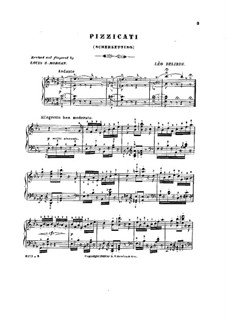 Сильвия : Пиццикато, для фортепиано by Лео Делиб