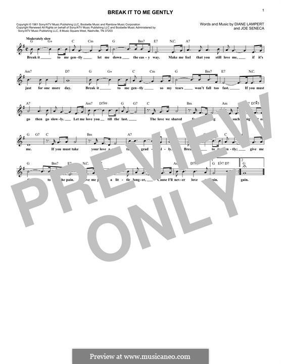 Break It To Me Gently: Мелодия by Diane Lampert, Joe Seneca