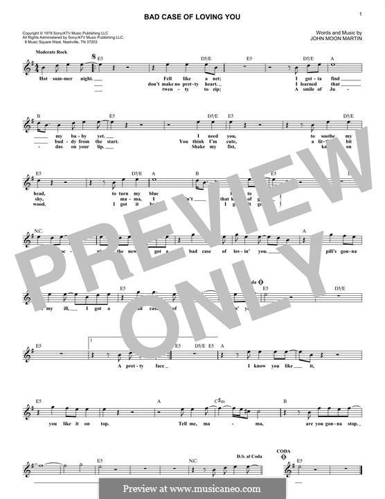 Bad Case of Loving You (Robert Palmer): Мелодия by Moon Martin