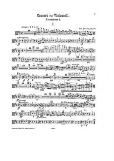 Концерт для виолончели с оркестром си минор, B.191 Op.104: Партия первого тромбона by Антонин Дворжак