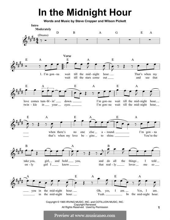 In the Midnight Hour: Мелодия by Steve Cropper, Wilson Pickett