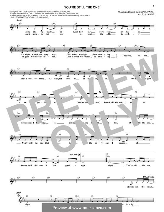 You're Still the One: Мелодия by Robert John Lange, Shania Twain