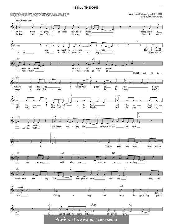 Still the One (Orleans): Мелодия by John T. Hall, Johanna Hall