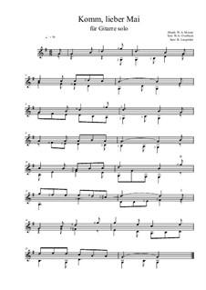 Komm lieber Mai: Für Gitarre by Вольфганг Амадей Моцарт