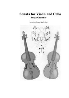 Sonata: For violin and cello by Sonja Grossner