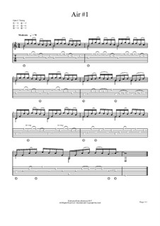 Air No.1 for Open C guitar: Air No.1 for Open C guitar by chenresi