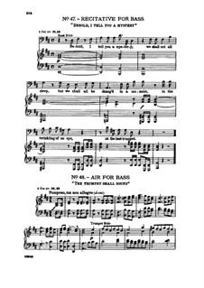 No.48 The trumpet shall sound: Recitative and Aria for bass by Георг Фридрих Гендель