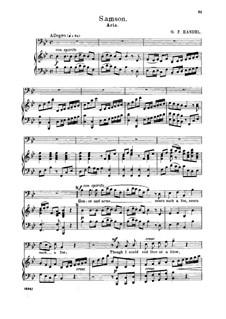Самсон, HWV 57: Honor and arms. Aria for bass by Георг Фридрих Гендель