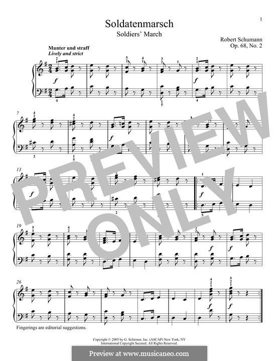 No.2 Марш солдатиков: Для фортепиано by Роберт Шуман