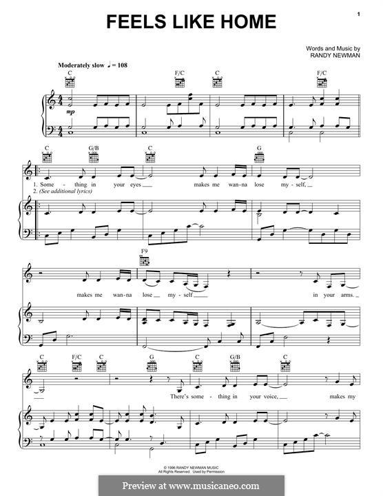 Feels Like Home: Для голоса и фортепиано (или гитары) by Randy Newman
