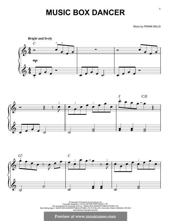 Music Box Dancer: Для фортепиано by Frank Mills