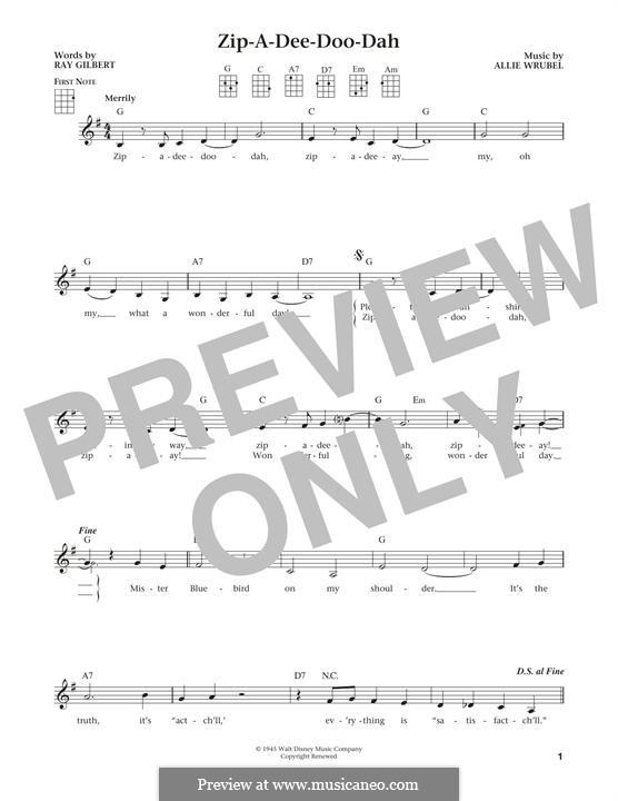 Zip-A-Dee-Doo-Dah: Для укулеле by Allie Wrubel