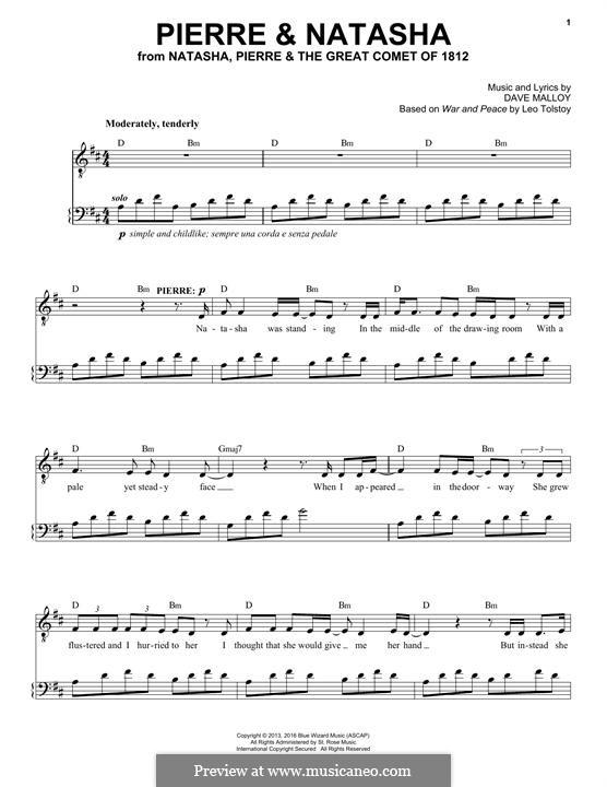 Pierre & Natasha (Josh Groban): Для голоса и фортепиано by David Malloy