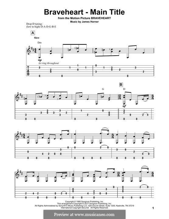 Braveheart - Main Title: Для гитары by James Horner