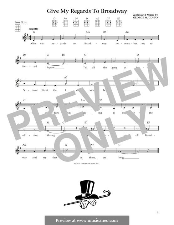 Give My Regards to Broadway: Для укулеле by George Michael Cohan