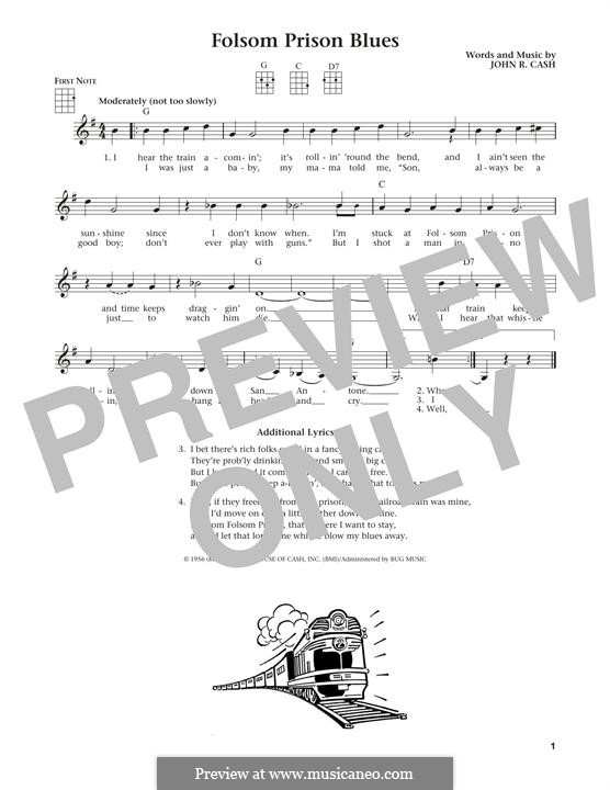 Folsom Prison Blues: Для укулеле by Johnny Cash